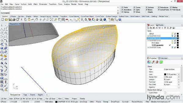 Shelling your model manually: Rhino 5 Essential Training