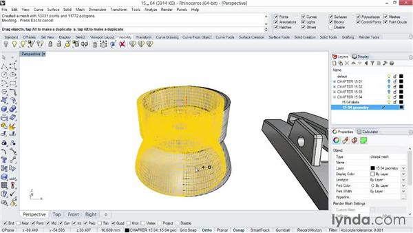 Exporting to the STL format for 3D printing: Rhino 5 Essential Training