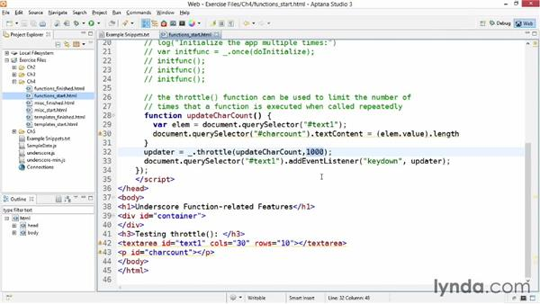 Using function features: Up and Running with Underscore.js