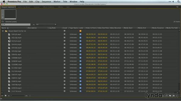 Importing bins with a CSV file: Premiere Pro Guru: Organizing Assets