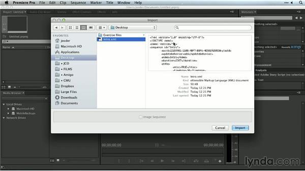 Importing Final Cut Pro and Avid projects: Premiere Pro Guru: Organizing Assets