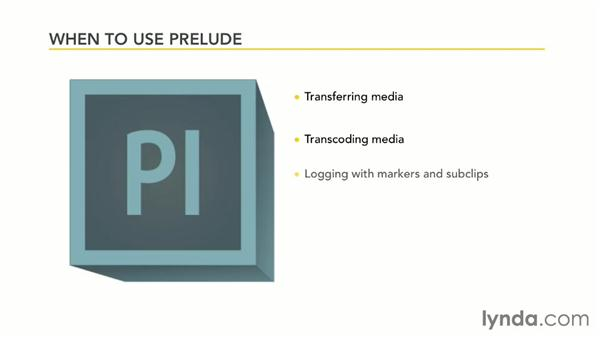 When to use Prelude: Premiere Pro Guru: Organizing Assets