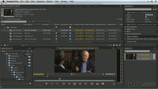 Clip markers: Premiere Pro Guru: Organizing Assets