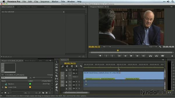 Sequence markers: Premiere Pro Guru: Organizing Assets