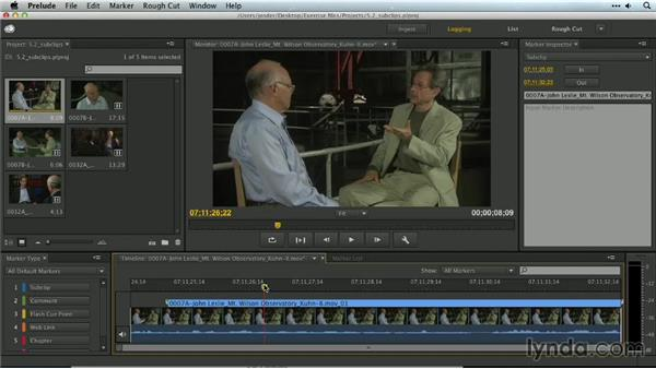 Subclipping with Prelude: Premiere Pro Guru: Organizing Assets