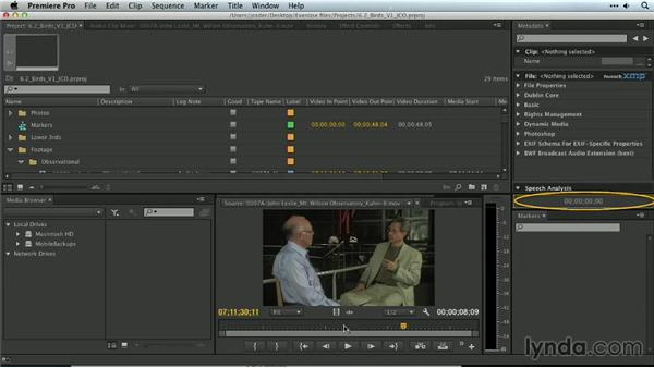 The Timecode panel: Premiere Pro Guru: Organizing Assets