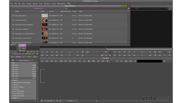 Setting up and organizing a project: Avid Media Composer 7 Essential Training