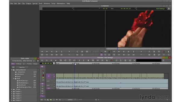 Removing shots using Extract and Lift: Avid Media Composer 7 Essential Training