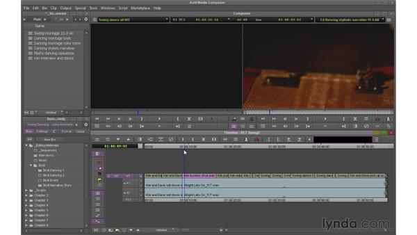 Using Segment mode (Extract/Splice) to switch shots: Avid Media Composer 7 Essential Training