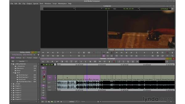 Using Extract/Splice and Lift/Overwrite together: Avid Media Composer 7 Essential Training