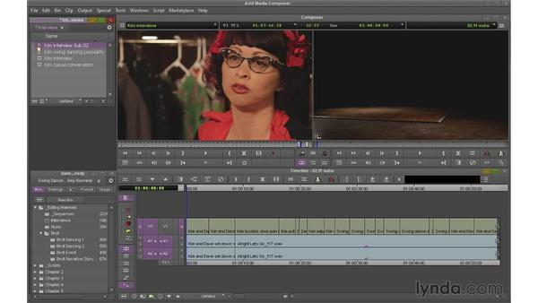 Creating subclips and subsequences: Avid Media Composer 7 Essential Training