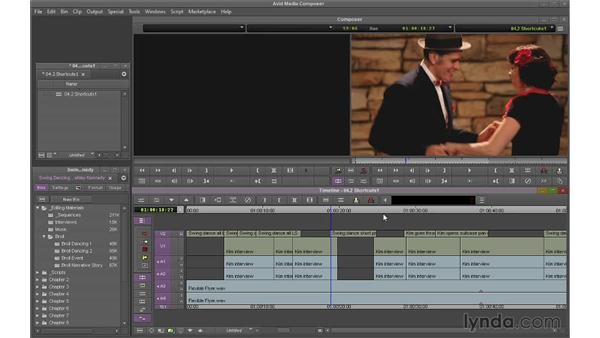 Using navigation shortcuts: Avid Media Composer 7 Essential Training