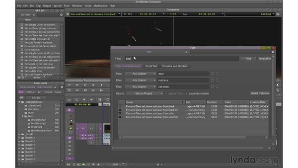 Using the Find tool: Avid Media Composer 7 Essential Training