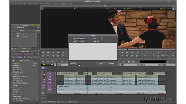 Using markers: Avid Media Composer 7 Essential Training
