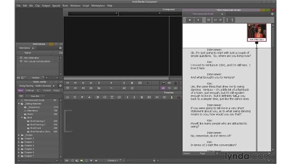 Using ScriptSync: Avid Media Composer 7 Essential Training