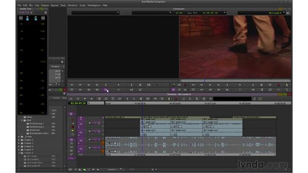 Adjusting audio levels in the Timeline (NEW): Avid Media Composer 7 Essential Training