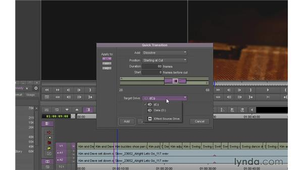 Using Quick Transition effects: Avid Media Composer 7 Essential Training