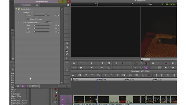 Using the Effects palette and the Effect Editor: Avid Media Composer 7 Essential Training