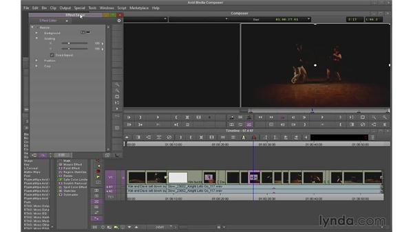 Keyframing segment effects: Avid Media Composer 7 Essential Training