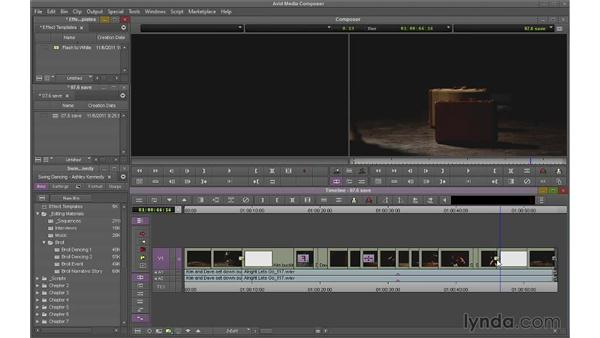 Saving effect templates: Avid Media Composer 7 Essential Training