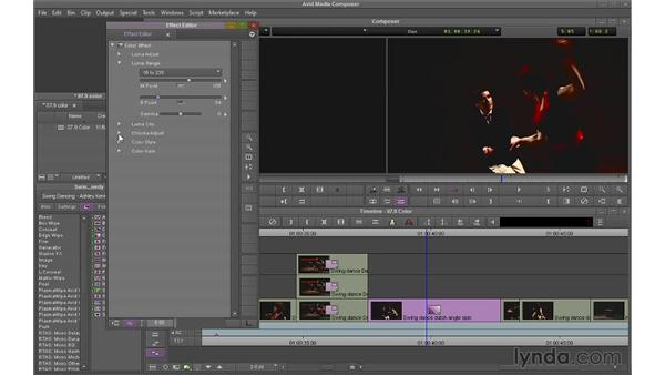 Using the Color effect: Avid Media Composer 7 Essential Training