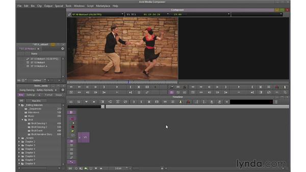 Creating basic motion effects: Avid Media Composer 7 Essential Training