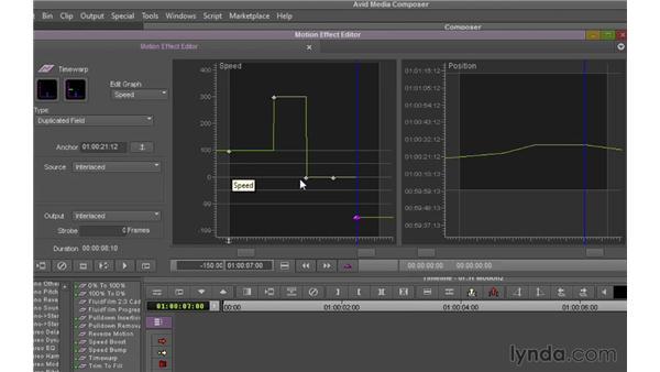 Using Timewarp: Avid Media Composer 7 Essential Training