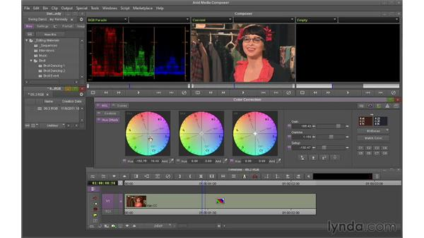 Using the RGB Parade to correct color casts: Avid Media Composer 7 Essential Training