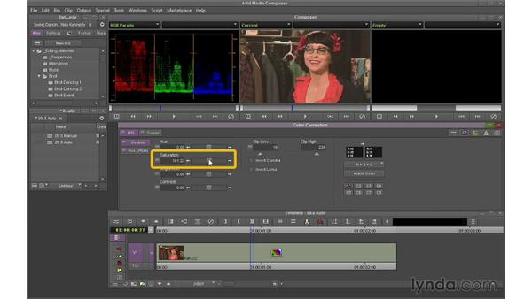 Using auto color correction: Avid Media Composer 7 Essential Training