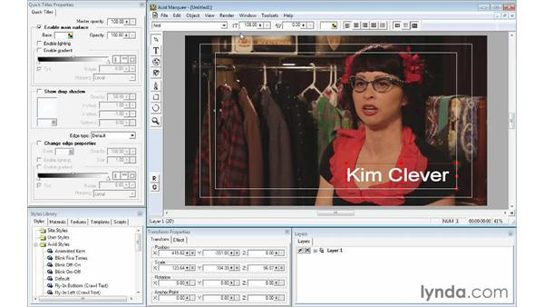 Formatting and enhancing text using Avid Marquee: Avid Media Composer 7 Essential Training