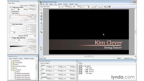 Using AutoTitler: Avid Media Composer 7 Essential Training