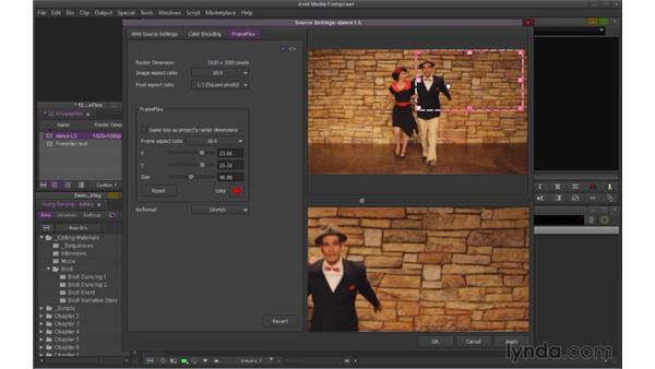 Working with FrameFlex (NEW): Avid Media Composer 7 Essential Training