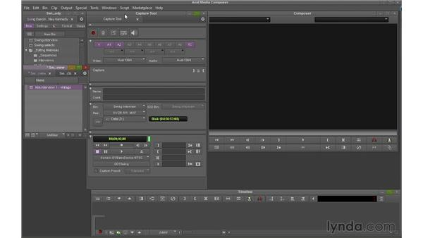 Capturing footage: Avid Media Composer 7 Essential Training