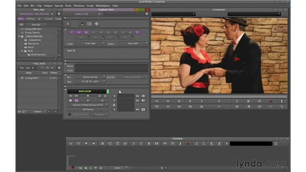 Batch capturing: Avid Media Composer 7 Essential Training