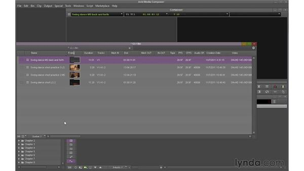 Deleting material from the bin: Avid Media Composer 7 Essential Training