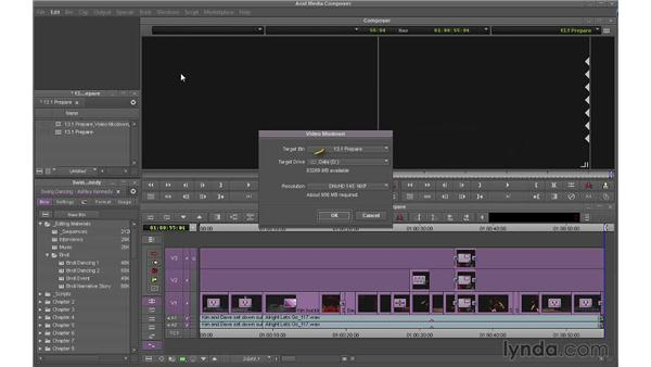 Preparing your sequence for output: Avid Media Composer 7 Essential Training