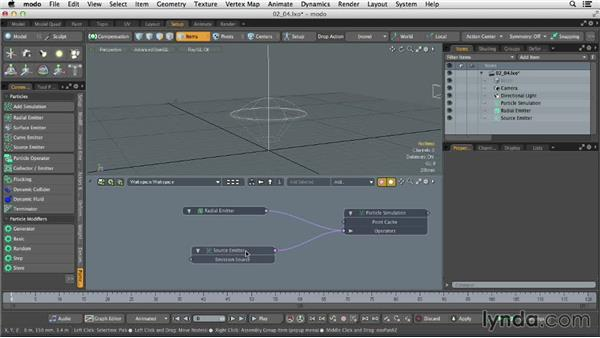 Creating advanced emitters: Dynamics and Particles in MODO