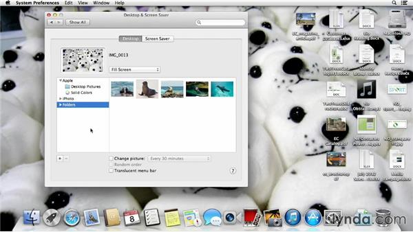 Customizing the desktop wallpaper: Mac OS X Mavericks Essential Training