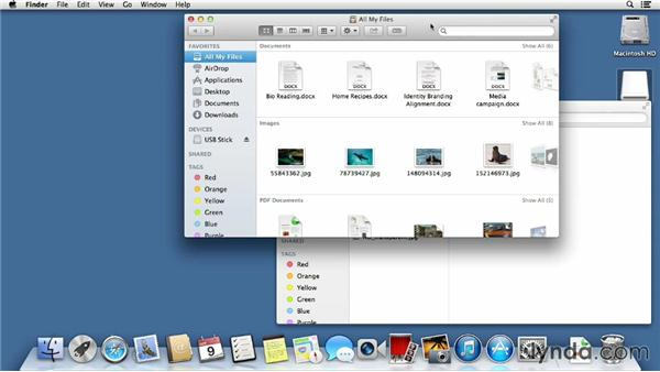 Creating, copying, moving, and renaming files and folders: Mac OS X Mavericks Essential Training
