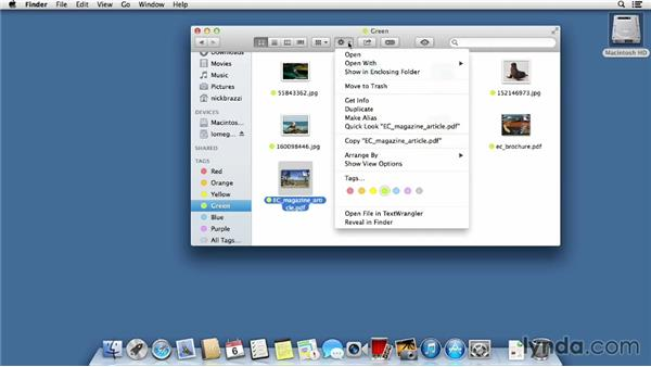 Tagging files for quick searchability: Mac OS X Mavericks Essential Training