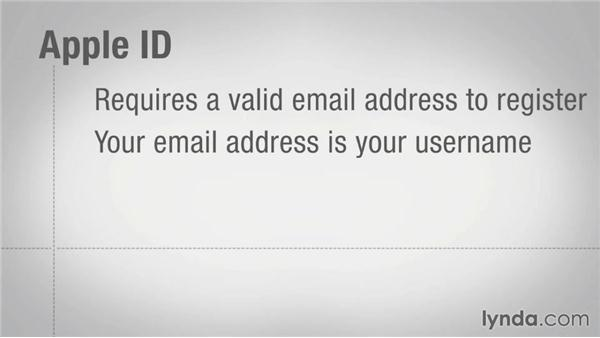 Understanding Apple ID and iCloud accounts: Mac OS X Mavericks Essential Training