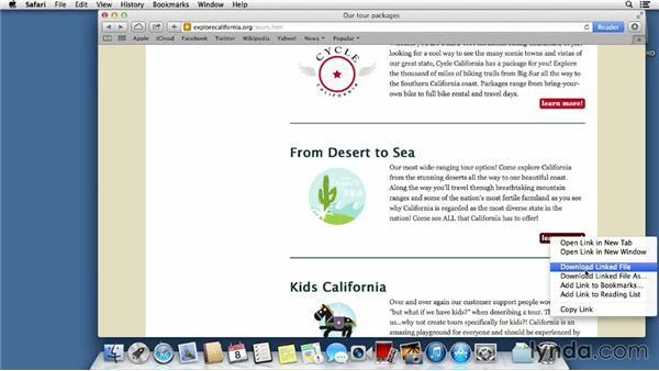 Downloading files: Mac OS X Mavericks Essential Training