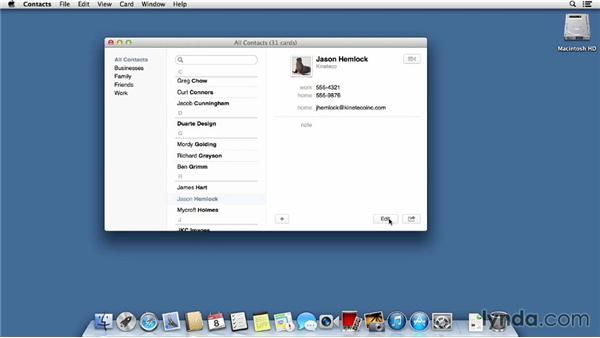 Contacts: Mac OS X Mavericks Essential Training