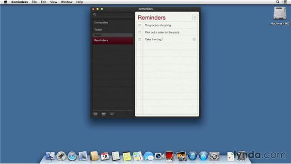 Notes and Reminders: Mac OS X Mavericks Essential Training