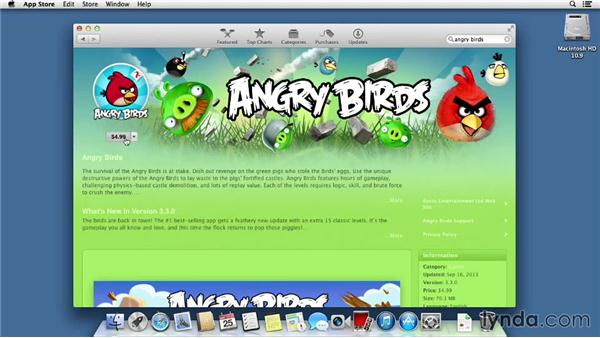 Using the App Store to get new applications: Mac OS X Mavericks Essential Training