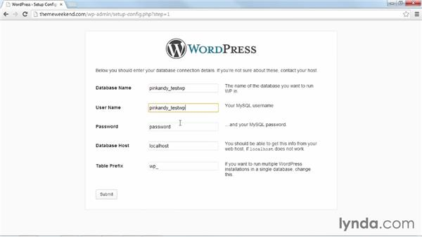 Connecting WordPress and the database automatically: Installing and Running WordPress: Shared Hosting