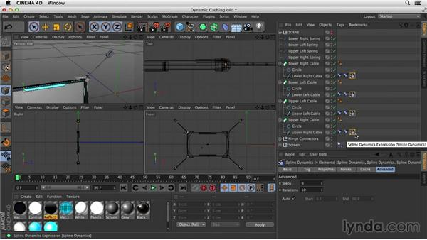 Fine-tuning and caching the dynamics: Mograph Techniques: Spline Dynamics with CINEMA 4D