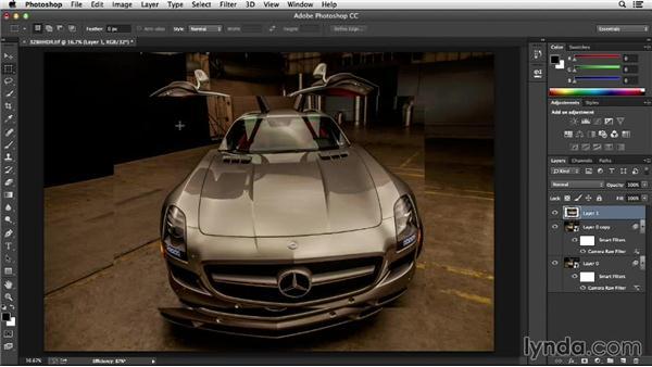 Keeping an eye on the Efficiency indicator: Photoshop Insider Training: Optimizing Photoshop's Performance
