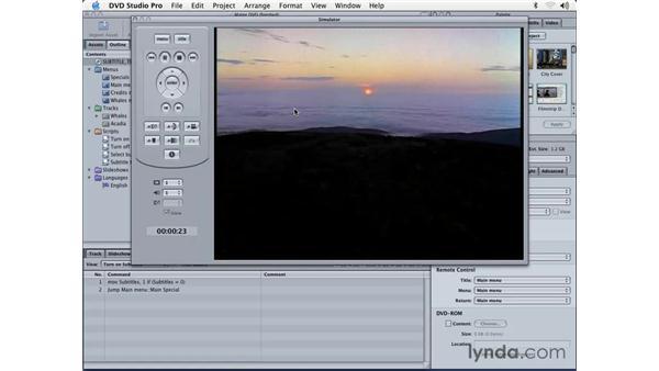 testing: DVD Studio Pro 3 Essential Training
