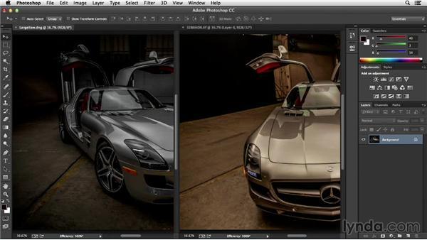 Dragging between files: Photoshop Insider Training: Optimizing Photoshop's Performance